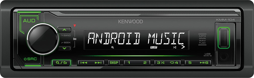 RADIO KENWOOD KMM-104GY ZIELONY