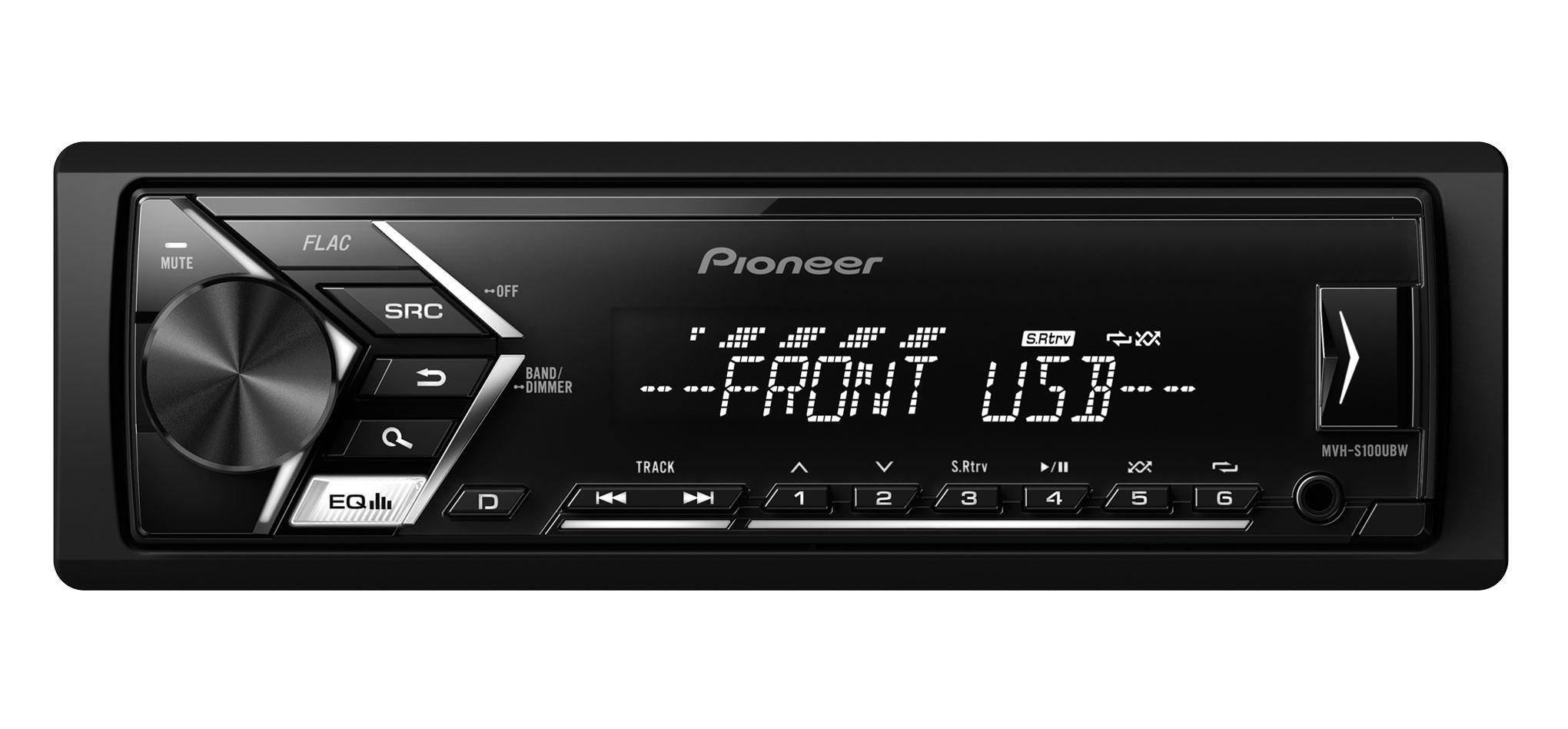 RADIO PIONEER MVH-S100UBW USB,AUX BIAŁY