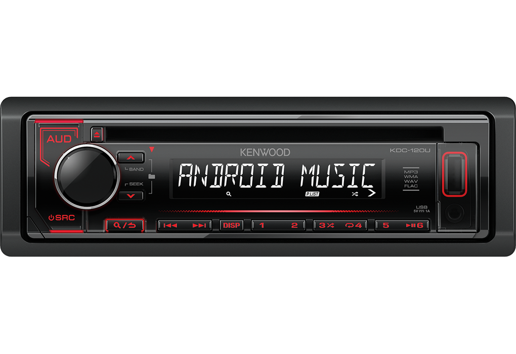 RADIO KENWOOD KDC-120URY CD+USB RED