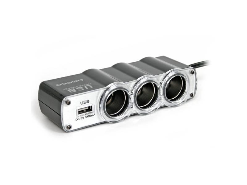 ROZGAŁEZIACZ GNIAZDA ZAPALNICZKI X3 USB