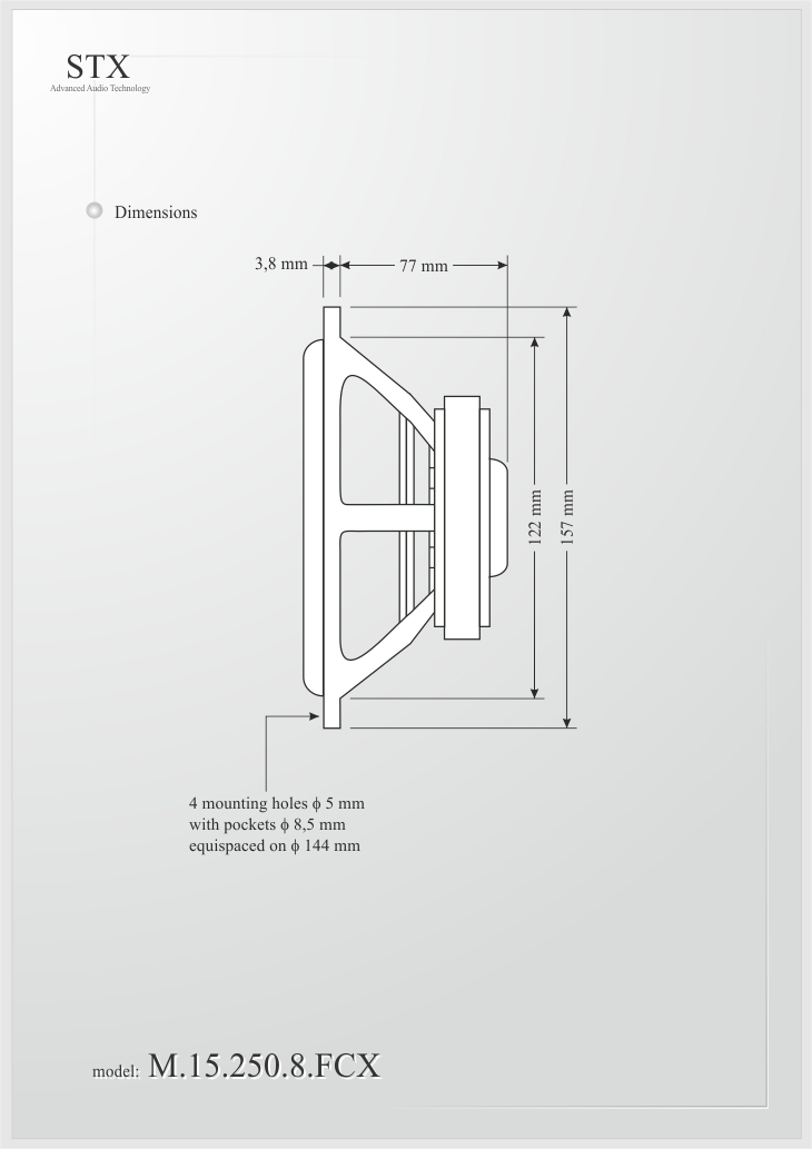 GŁOŚNIK M.STX.5.1.250.8.F.A.FC.X