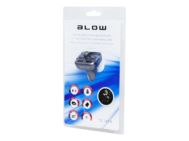 TRANSMITER FM BLOW BLUETOOTH USB+ŁADOWARKA