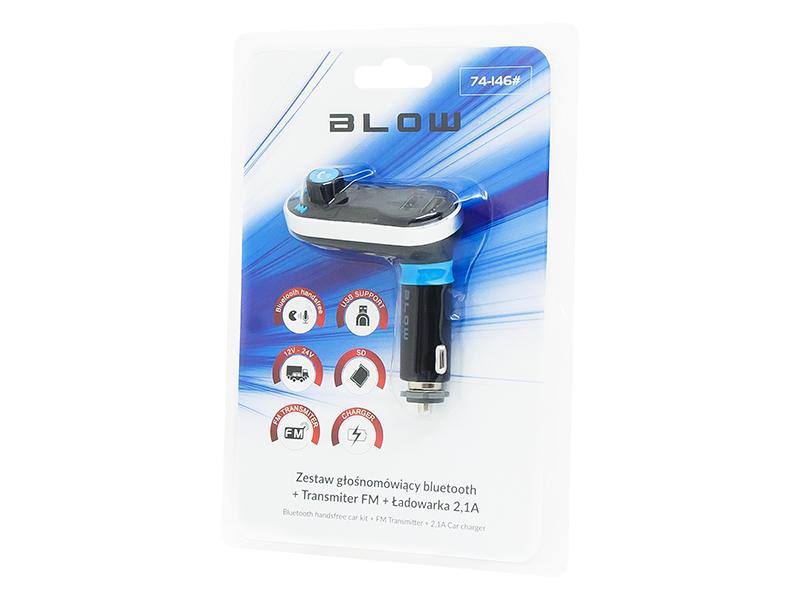 TRANSMITER FM BLOW 1,4'' LCD 2XUSB 2,1A BT