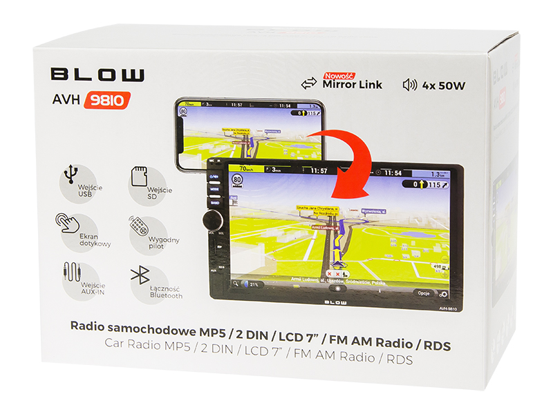 RADIO BLOW AVH-9810 2DIN 7''-zdj2