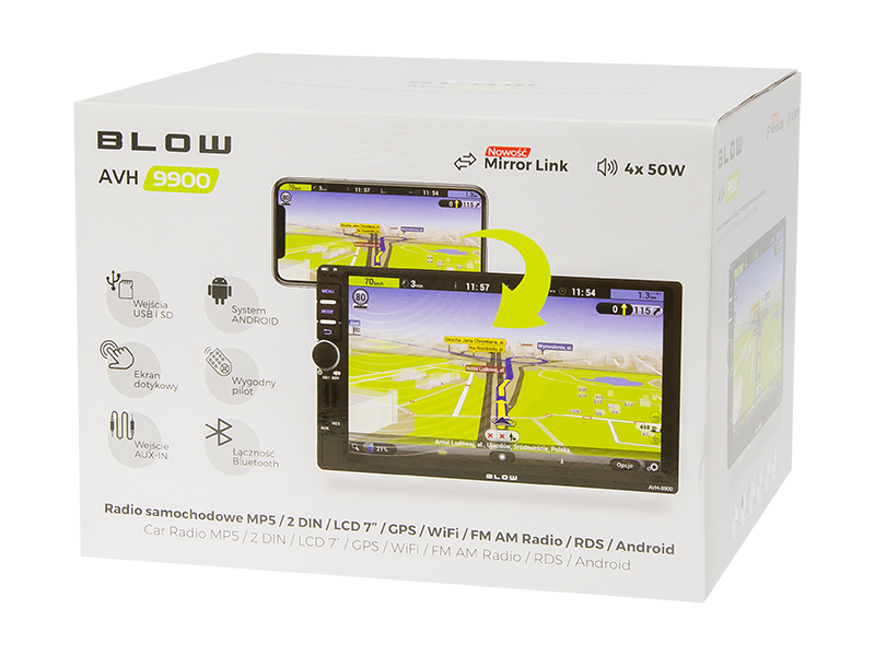 "RADIO BLOW AVH-9900 2DIN 7"" GPS ANDROID"